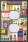 Metal Light Switch Plate Cover - Vintage Wine And Spirits Kitchen Bar Decor Wine
