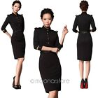 2014 New Women Celeb 3/4 Sleeve Stand-Up Collar Party Cocktail Pencil Slim Dress