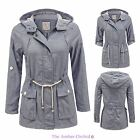 NEW LADIES WOMENS DENIM OVERSIZED FASHION HOODED TRENCH OUTWEAR COAT JEAN JACKET