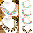Fashion Candy Bohemia Acrylic Diamond Beads Bib Party Statement Chain Necklace