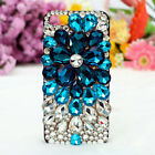 Luxury 3D Full Bling Rhinestone Pearl Plastic Case Cover For iphone Samsung LG