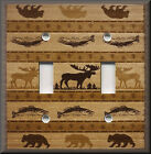 Light Switch Plate Cover - Bear Moose Fish - Rustic Home Decor - Hunting