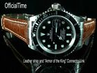 OfficialTime 20 / 16mm Buffalo Strap / Band & AK Connector Link fits Submariner