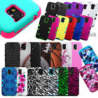 TUFF Hybrid Case Skin Design Hard Rubber Cover For SAMSUNG GALAXY Phones