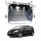3pc boot liner load mat bumper protector Ford S-Max heavy duty anti slip rubber