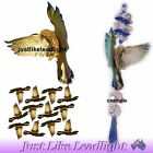 TRANSPARENT FALCON, CUT or UNCUT PACK bird suncatcher scrapbooking craft 3d