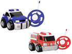CHILDRENS GALAXY MY FIRST REMOTE CONTROL GOGO AUTO POLICE SOFT CAR / FIRE TRUCK