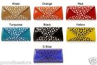 Ladies Girls Stylish Polka Dot 50's Style Spotty Clutch Purse Long Wallet Bag