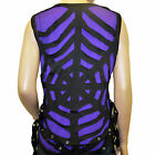 Dark Star Jordash Black Purple Spider Web Cut Out Straps Sleeveless Vest Top