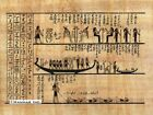 """Egyptian Papyrus Painting - Horus and the Netherworld 8X12"""" + Hand Painted #10"""