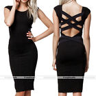2014 Sexy Women Slim Party Cocktail Evening Bandage Bodycon Pencil Black Dress