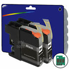 2 Black Compatible Printer Ink Cartridges for Brother LC123 Range
