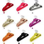 5X Colorful Non-Slip Velvet Flocked Garments Clothes Coats Trousers Heart Hanger
