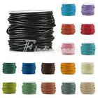 Real Round Roll Cord DIY 1/1.5/2/3mm Leather 10m Jewelry Thong Bracelet Making