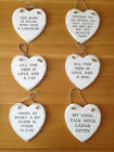VINTAGE STYLE HANGING WHITE WOODEN HEARTS PLAQUE SIGN DECORATION GIFT FOR FRIEND