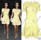 Womens Celeb Lucy Towie Summer Bodycon Peplum Skater Aztec Party Boutique Dress