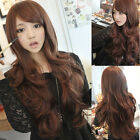 Fashion Long Women's Girls Style Wavy Curly Hair Full Wigs Cosplay 3 Colors