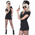 POLICEWOMEN police women officer Cop Zip Up Uniform Costume + HANDCUFFS HAT