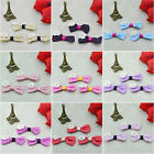 20pcs Lovely Multi-color Cotton Bow-knot Flowers with pearl Wedding Trims Craft