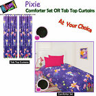 GLOW IN THE DARK Kids Pixie Comforter Set OR Curtains - SINGLE DOUBLE