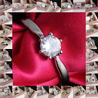 Woman Favorable 18K White/yellow Gold Filled White Sapphire Outstanding Ring Sz7