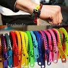 2X Korea Punk Acrylic Zipper Zip Bracelet Bangle Cuff HipHop Rainbow Colorful