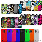 For ZTE Phones Hard Rubberized Case Matte Solid Design 2-Piece Fitted Covers