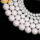 "Porcelain White Jade Stone Beads For Jewelry Making 15"" Wholoesale Jewlery Beads"