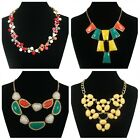 Lady Fashion Acrylic Retro style Mix-Color Gold Chain Jewelry Party Necklaces