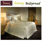 Kacey Cream Embroidery Bedspread + P/cases SINGLE King Single DOUBLE QUEEN KING