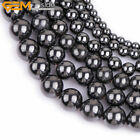 "Natural Stone Magnetic Beads BallsFor Jewelry Making 15"" Magnetite Healing Beads"