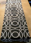 1 TABLE RUNNER-made in ECLIPSE col.charcoal black - lined wedding xmas
