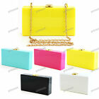 YELLOW WHITE BLACK PINK BLUE Acrylic Hard Case Clutch Bag #700
