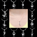 NEW 18K White Gold Filled Necklace Heart Sapphire Women's Jewellery Love's Gift