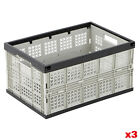 Large Folding Storage Crates Stackable Boxes Foldable Stack Collapsible Crate