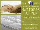 Washable 650GSM Goose Feather Down Mattress Topper