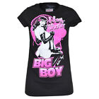 Bettie Page Hey There Big Boy Queen Pin Up Women Tshirt Tee Black Ladies