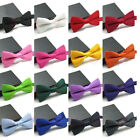 NEW Tuxedo Classic Bowtie Wedding Solid Color Adjustable Neckwear Men's Bow Tie