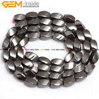 "A Grade Twist Black Magnetic Hematite Beads Gemstone Strand 15"" Size Pick"