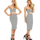 Sexy Women's Cocktail Party Club Bandage Bodycon Dress Two piece Outfit Clubwear