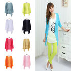 New Casual Women Long Sleeve Tops Cardigan Thin Coat Outwear Blouse 10 Color