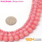 """Fashion Round  Faceted Pink Opal Jade Beads Jewelry Making Strand 15""""  4,6,8mm"""