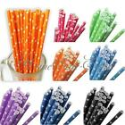 25Pcs Colorful Stars Paper Drinking Straws Wedding Party Birthday Decoration