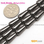 "Fashion Magnetic  Black  Natural Teardrop Hematite Beads Stone Strand 15"" 6x12mm"