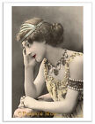 JEWELRY ADORNED LADY Vintage Postcard Image Photo Greeting Card Or Print SD115
