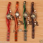 Owl/ Butterfly Pattern Vintage Decor Beads Braid Rope Wrist Chain Watch Bracelet