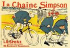 AP165 Vintage French Simpson Chain British Cycling Advertisement Poster A2/A3/A4