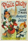 AP65 Vintage France 1898 A La Place Clichy Advertisement Poster A1/A2/A3/A4