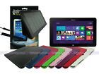 Leather Case+Screen Cleaner Pad+Stylus for Samsung Ativ Smart PC 500T