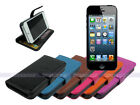 Leather Wallet Case Folding Stand Cover for iPhone 5S 5